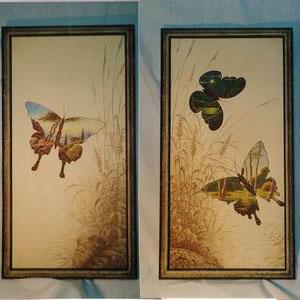 Серия Прозрачные бабочки. Триптих