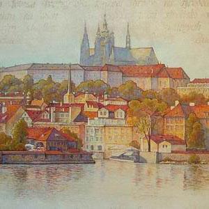 Прага. 183x98