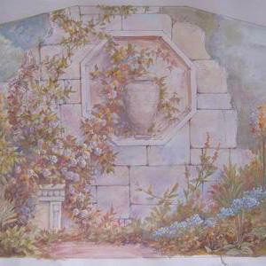 Для росписи стены  в коттедже